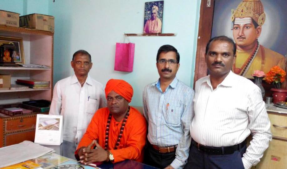 With Pujya Shree Chennabasava Swamiji