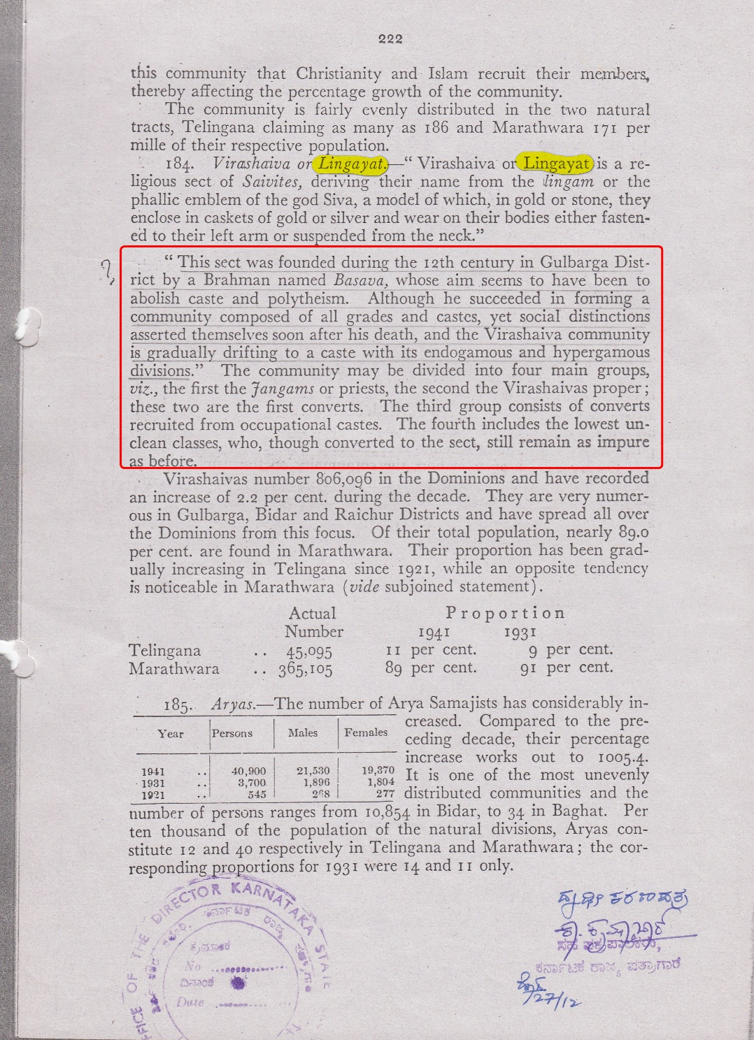 Census of India 1941 Hyderabad State Report_2