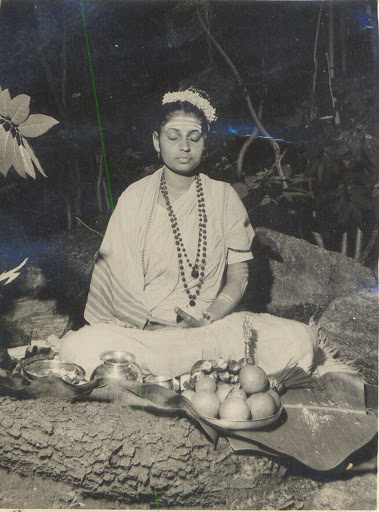 Mataji in meditation