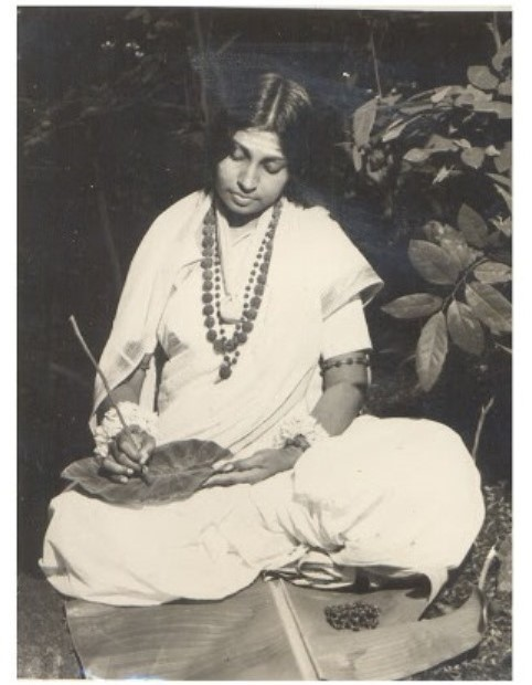 Mataji while writing