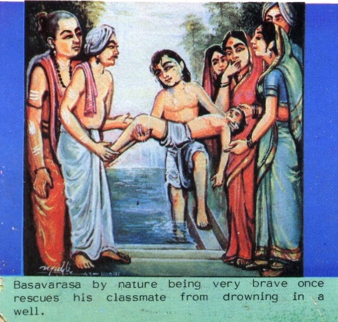 Basava rescues his classmate from drowning in a well